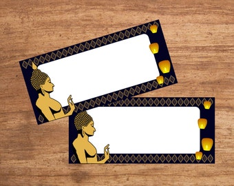 Instant Download Thai Party Tent Cards Seating Cards