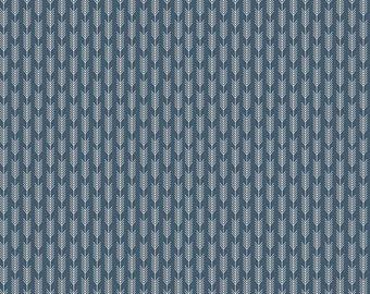 High Adventure Stripe in Blue Fabric by Riley Blake - 1 Yard