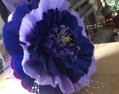 12 Inch Crepe Paper Flower Mounted on 10 inch Wooden Dowel