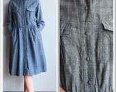1980s Dress // Steel Train Dress // vintage 80s does 50s dress