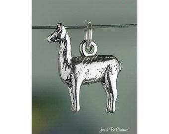 Sterling Silver Llama Charm Peru Peruvian Llamas Animal 3D Solid .925