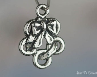 Sterling Silver Five Gold Rings Charm 12 Days of Christmas Tiny .925