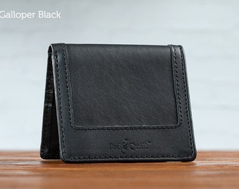 The Classic Uptown Mens Leather Wallet - Black | Mens Wallet, Leather Bifold Wallet
