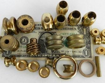 Solid Brass Parts- Steam Punk- Found Objects- Robot Parts- Junk Drawer
