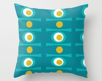 Modern Pillow,  Century Modern Throw Pillow, Geometric Pillow, Modern Throw Pillow, Mid Century Modern Cushion, Retro Throw Pillow