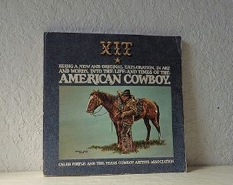 Book: The American Cowboy, Caleb Pirtle, First Softcover Edition, 1975. Fabulous Color Illustrations.
