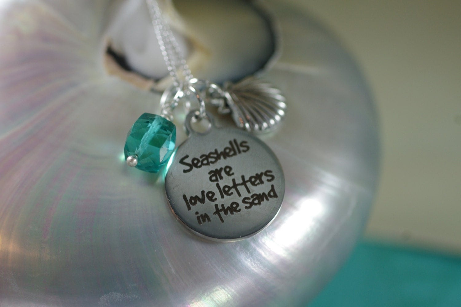 love letters in the sand seashells are letters in the sand necklace your 33233