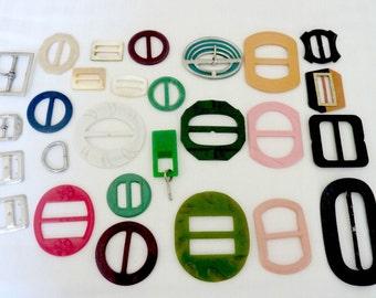 """1950""""s Belt Buckles All colors Bulk Supply Scarf Slides"""