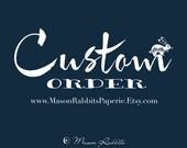 Custom Order for songbaird0701 - 15 Bridge Style A Wedding Table Number Luminaries