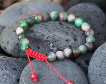 Tibetan Mala Blood Stone Wrist mala Yoga Bracelet