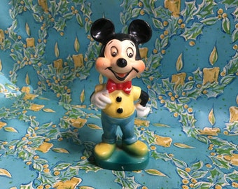 Vintage Mickey Mouse Figurine Japan Ceramic