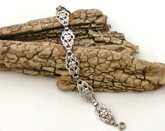 Antique silver jugendstil art nouveau 800 silver braceletGermany