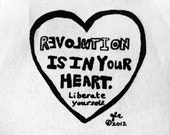 Art Punk Patches Punk Patch Print Truth DIY Crust Anarchy Love Riot Grrrl Revolution Is In Your Heart Liberate Yourself Small Cloth Patch