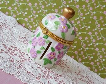 Charming Floral Cottage Stamp, Craft, Trim Dispenser, Storage Jar