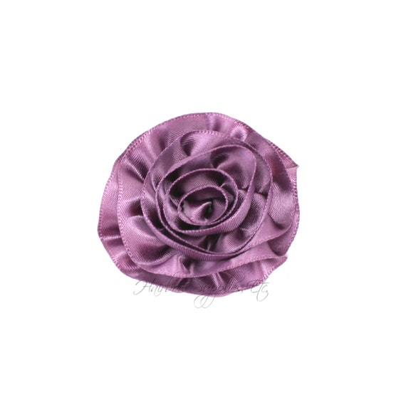Violet Rose Ruffle Silk Flowers 2 inch - Violet Flowers, Violet Hair Flowers, Violet Silk Flower, Purple Flower, Violet Hair Accessories
