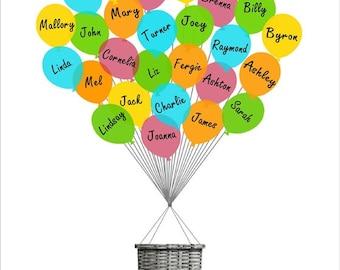 Teacher Thank You Gift, Teacher Appreciation, Personalized Gift for the Teacher, Teacher gift, Class Gift, balloons - DIGITAL PRINTABLE FILE
