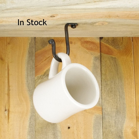 Small Under Cabinet Cup Hook Decorative Hardware Included