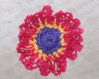 Crocheted flower hair pretty