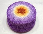 Gradient cashmere silk yarn hand dyed  lace weight yarn 97-100g (3.4-3.5oz) - Spring crocus