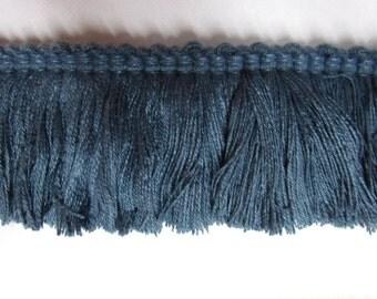 BLUE brush fringe 2 inch