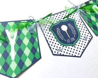 Golf Party Banner, Golf Birthday Banner, Golf Baby Shower Banner, Golf Party Decorations, Golf Themed Banner, Baby Shower Banner, Banner