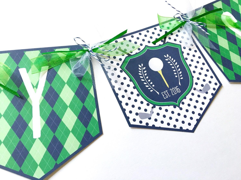 Golf party banner golf birthday banner golf baby shower - Slaapkamer gordijn babymeisje ...