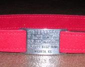 Ultrasuede Custom ID Greyhound Tag Collar