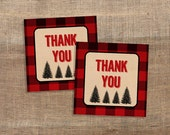Lumberjack Favor Tags, Red Flannel Thank You Tags, Shower Favor Tags, DIY Printable, INSTANT DOWNLOAD