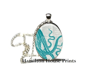 Octopus Jewelry Dictionary Art Print Pendant Dictionary Necklace Hamilton House Prints Orginal Jewelry Quote Jewelry