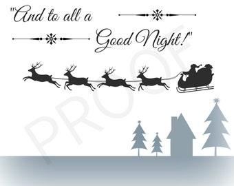 Digital Art: Christmas Holiday Print, Printable Wall Art,  INSTANT DOWNLOAD