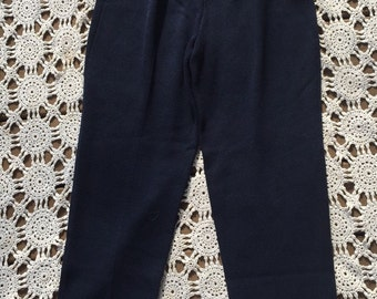 90s knit pleated trousers pants by St. John in navy size 4