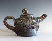 11 oz Handmade Stoneware Teapot, Ceramic Teapot, wheel thrown teapot, pottery teapot