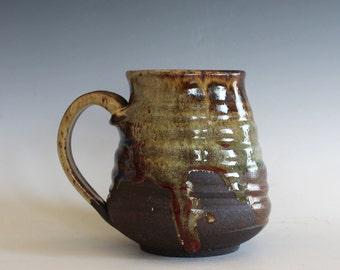 Pottery Mug, 17 oz, handmade ceramic cup, handthrown mug, stoneware mug, pottery mug, unique coffee mug, ceramics and pottery