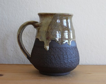 Coffee Mug Pottery, 18 oz, unique coffee mug, handmade cup, handthrown mug, stoneware mug, wheel thrown pottery mug, ceramics and pottery