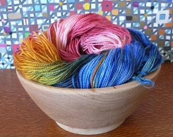 Tight Twist Hand Dyed Fingering Weight Superwash MCN Sock Yarn-Nebula 400 yards
