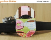 final CLEARANCE Camera Lens Cap Pocket - holds up to 67mm - Coffee and Doughnuts - Ready to Ship