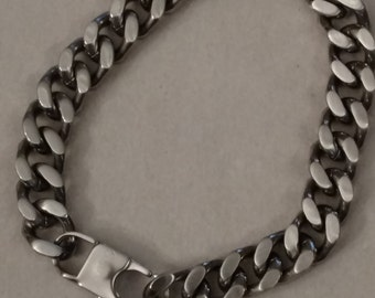 Biker Stainless Steel Chain, Bracelet, Matte Finish, FREE SHIPPING