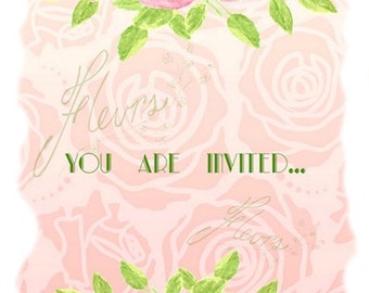 "Invitation card,""You Are Invited"",Online Cards,Invitations,Invite cards,Announcement cards,Just Because cards, 100% CUSTOMIZABLE: 5""X7"""