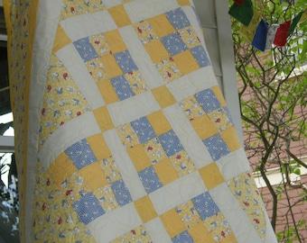 Handmade Baby Quilt Cats