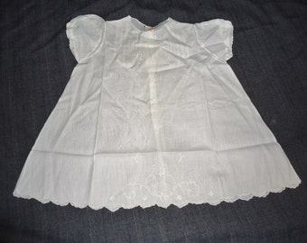 White Embroidered Puffsleeved Vintage Philippines Baby Girl Dress 6 Mon
