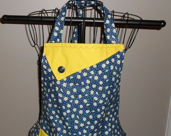 Daisies and Polka Dots Women's Apron