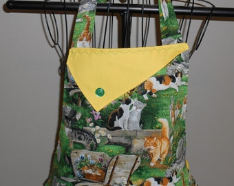 Cats, Kittens and Flowers Women's Apron