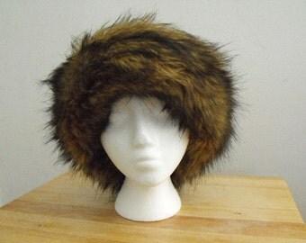 Faux Fur and Fleece Hat
