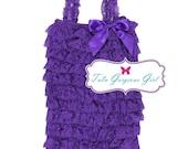 Purple Lace Petti Romper
