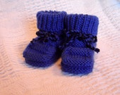 Hand knit baby booties - High Tops