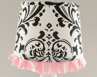 Small White And Coral Chevron Lamp Shade By Babymilanbedding