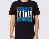 Straight Outta Carolina Panthers T-Shirt ( Carolina Panthers Shirt, Carolina Home Team Shirt, Tailgate Shirt, Straight Outta Carolina Tee )