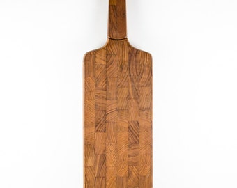 Gorgeous Teak Dansk IHQ Paddle Cutting Board with Knife