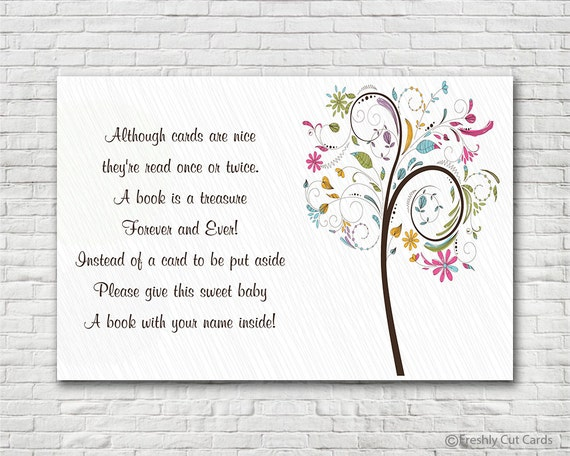Colorful Tree Book Request Card - Instant Download