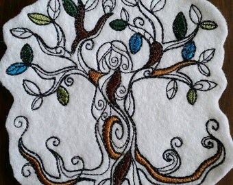 Tree goddess patch,mother nature patch, goddess patch,embroidered patch